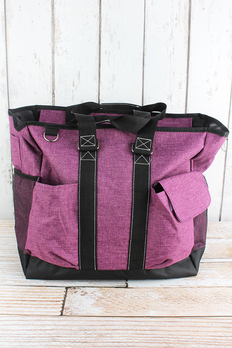 NGIL Black Cherry Crosshatch Everyday Organizer Tote