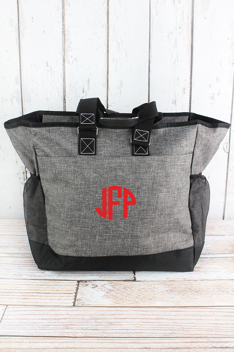 NGIL Steel Gray Crosshatch Everyday Organizer Tote