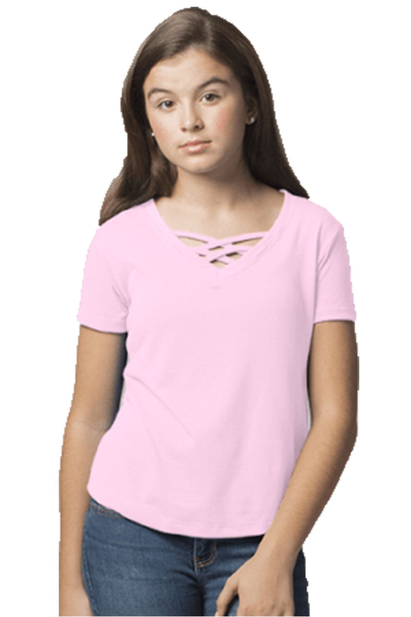 Boxercraft Youth Pale Pink Front Caged Tee