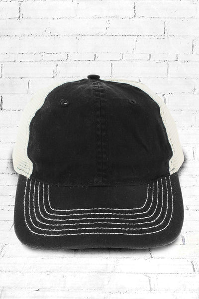 Black Washed Trucker Cap #ZK641 - Wholesale Accessory Market