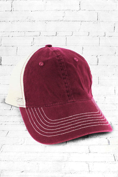 Cardinal Washed Trucker Cap #ZK641 - Wholesale Accessory Market