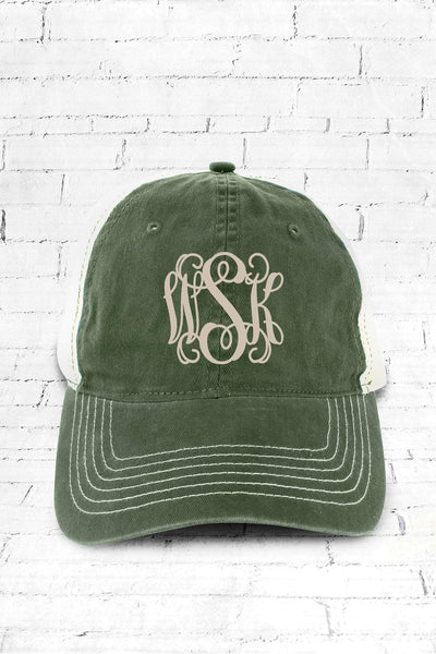 Forest Washed Trucker Cap #ZK641 - Wholesale Accessory Market