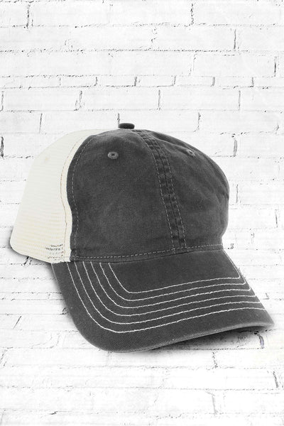 Grey Washed Trucker Cap #ZK641 - Wholesale Accessory Market