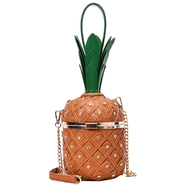 Tropical Pineapple Shoulder Bucket Bag