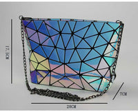 Diamond Lattice Fold Over Chain Shoulder Bag