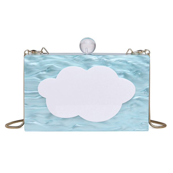 Cloudy Day Clutch Evening Bag