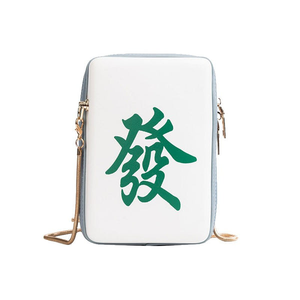 Mahjong Tile Crossbody Bag