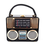 Retro Classic Radio Style Ladies Clutch & Shoulder Handbag