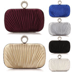 Satin Evening Knucklebag Wallet Clutch
