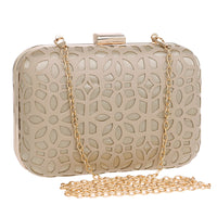 Hollowed Out Luxury Style Evening Clutch Shoulder Bag