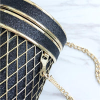 Black and Gold Bucket Evening Luxury Bag