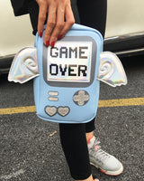 Holographic Game Over Shoulder Bag