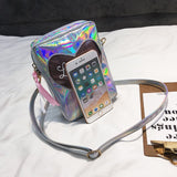 Lovely Holographic Heart Shoulder Bag
