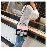 Fashion House Vegan Leather Casual Shoulder Bag