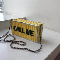 Call Me Acrylic Box Shoulder Bag