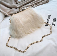 Faux Fur Mini Chain and Crossbody Handbag