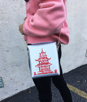Chinese Takeout Vegan Leather Bucket Bag