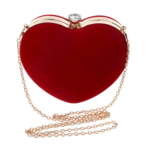 Heart Shape with Gemstone Evening Bag