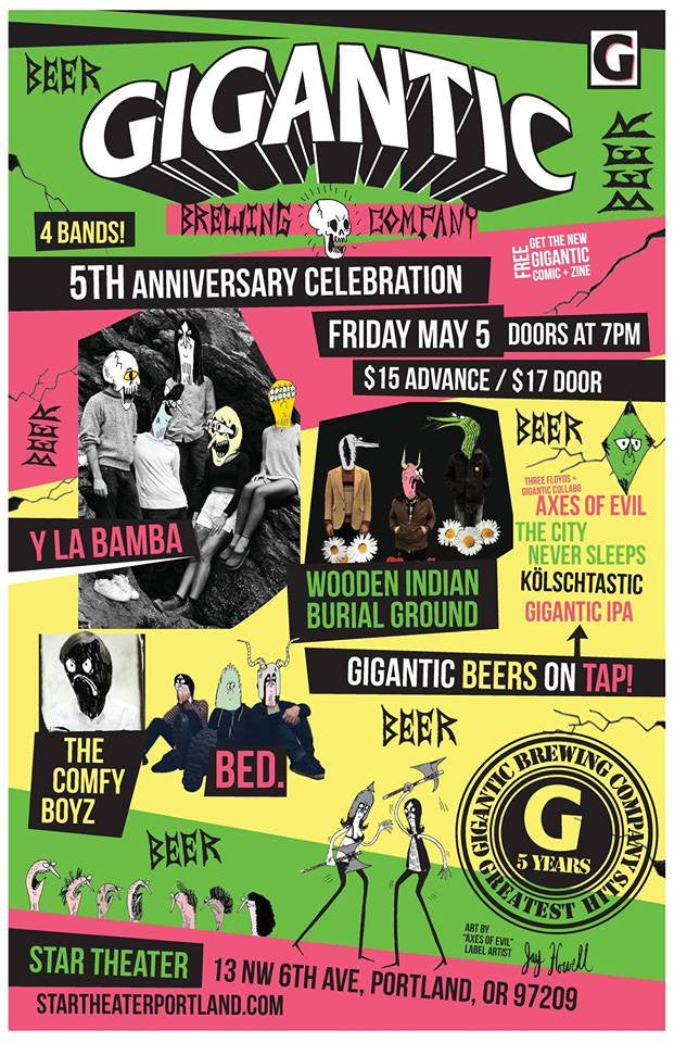 Gigantic is Turning 5! Celebrate during Gigantic Beer Week May 4-11