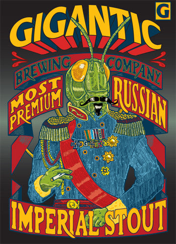 Most Premium Russian Imperial Stout by Frank Kozik