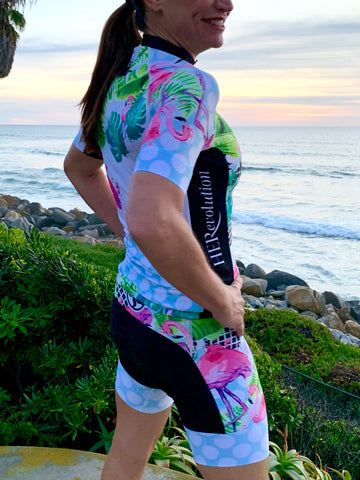 Flamingo Black Elite Cycling Short