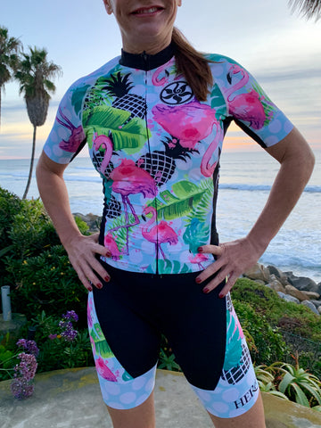 Flamingo Black Elite Cycling Jersey