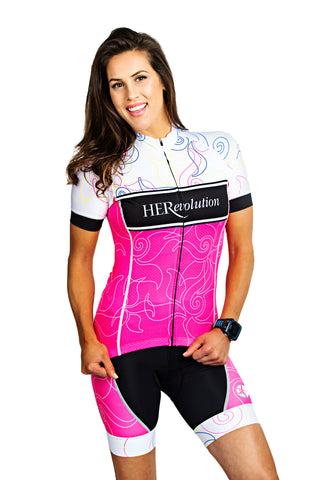 Pink Lotus Cycling Jersey