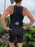 HERsexy Black Sleeveless One Piece Trisuit