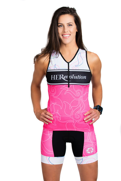 Pink Lotus Triathlon Top