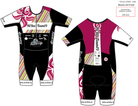 HERev Team 19 One Piece Sleeved Triathlon Suit