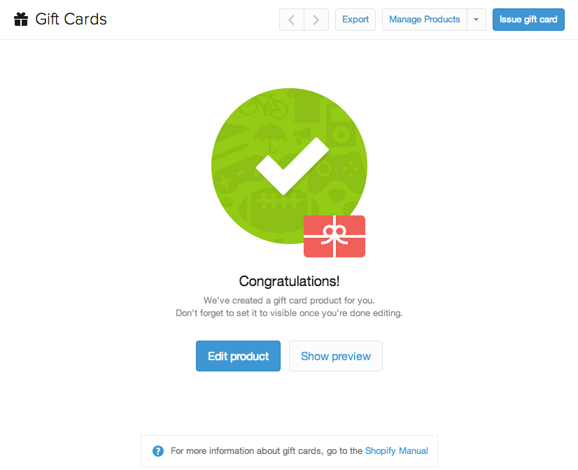 Shopify Gift Cards