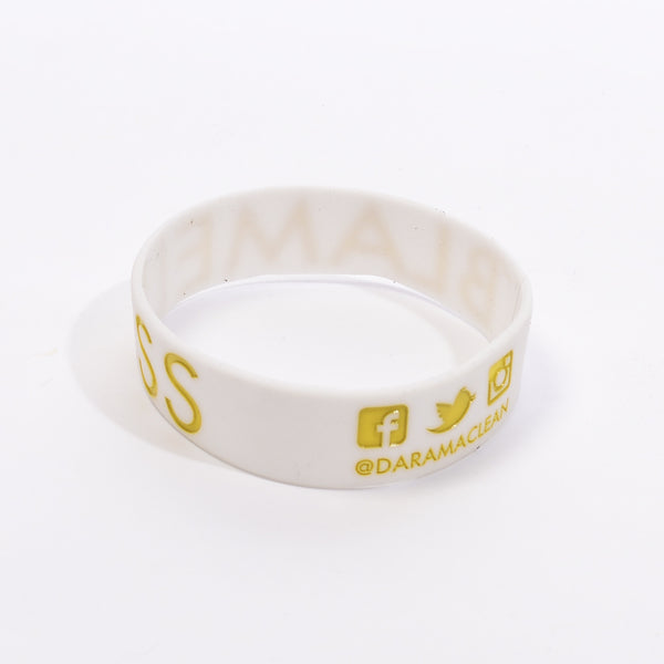 White with Gold Ink - Bracelet