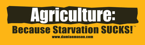Set of 5 'Starvation Sucks!' Ag Bumper Stickers