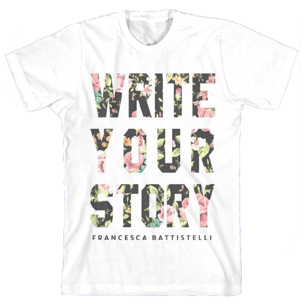 Floral Write Your Story T-Shirt