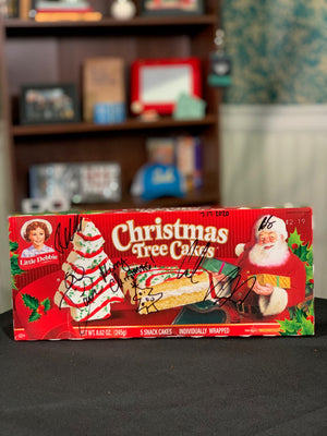 SIGNED Little Debbie Christmas Tree Cakes box! *AUTHENTIC*