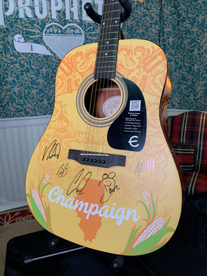 Champaign, IL - Custom Epiphone Acoustic Guitar (Autographed - ONE OF A KIND!)