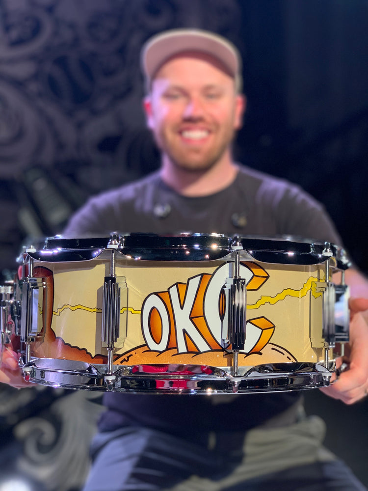 WFL III Oklahoma City, OK Custom Snare Drum (Autographed - ONE OF A KIND!)