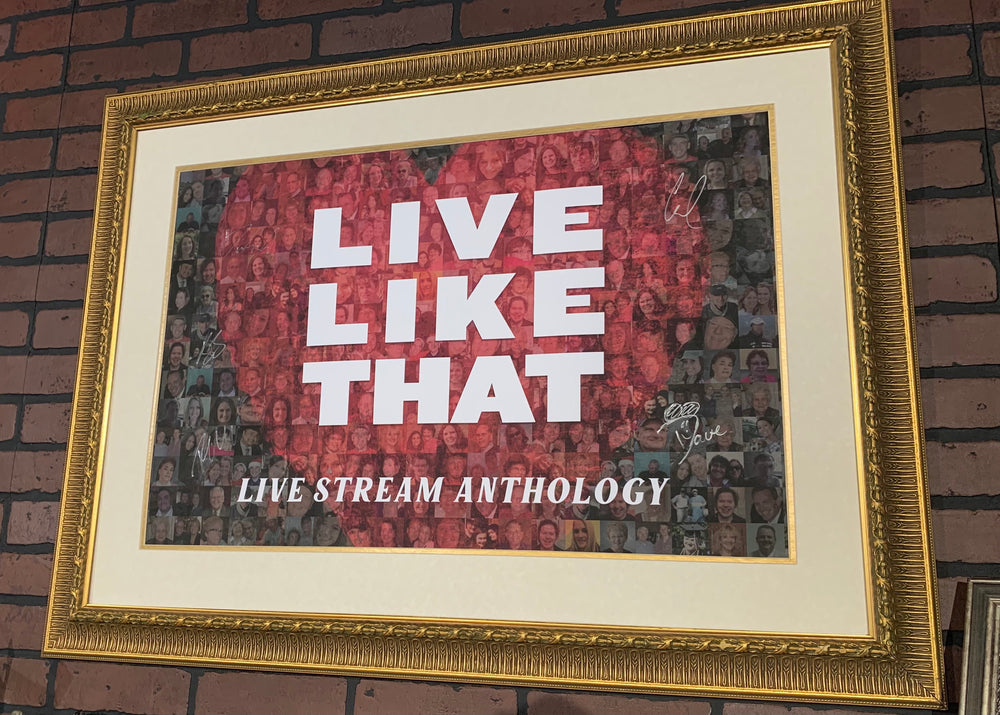 Live Like That signed poster! *Anthology Tour*