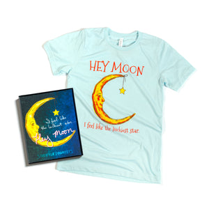 Hey Moon Poster and Tee Bundle