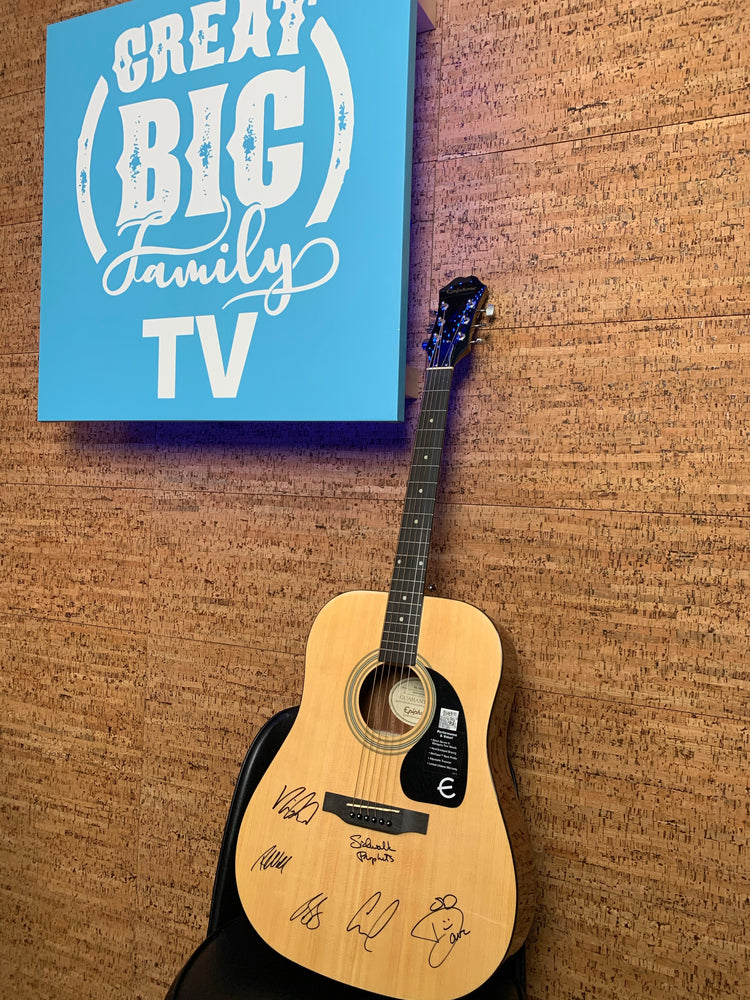 Signed Epiphone Acoustic Guitar (Autographed!) [Great Big Family Christmas 2020]