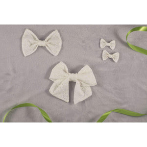 Daisy White Eyelet Pigtail Set - Periwillow