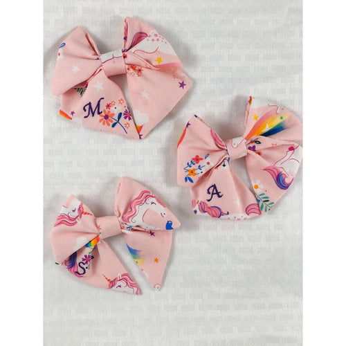 Monogrammed Unicorn Sailor Bow - Periwillow