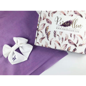 Monogrammed Sailor Bow - Periwillow