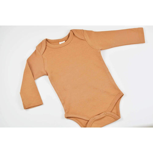Organic Long Sleeve Onesie- Ginger - Periwillow