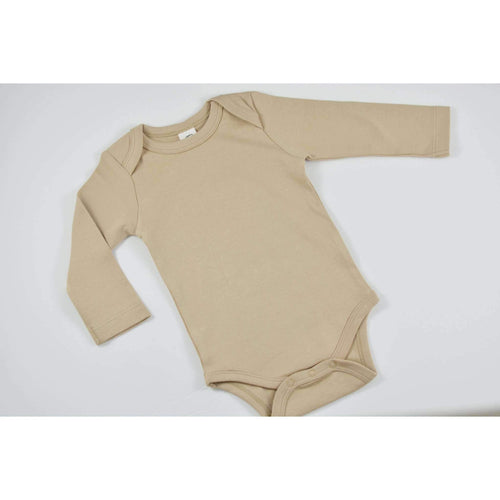 Organic Long Sleeve Onesie- Clay - Periwillow