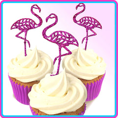 Small Single Flamingo Cake Topper