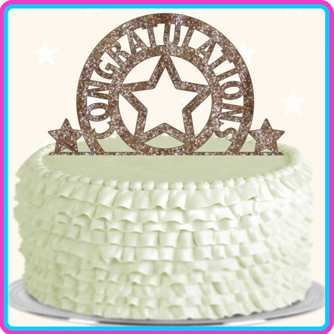 """Congratulations"" Star Cake Topper"
