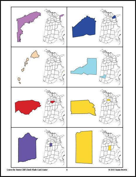 graphic regarding States and Capitals Flash Cards Printable identified as Country Flash Card Sport Package - Heat Hearts Submitting