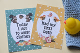 Forest Animal Premature Baby Journey Cards DD033
