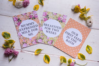 Bright Floral Breastfeeding Journey Cards ® DD025